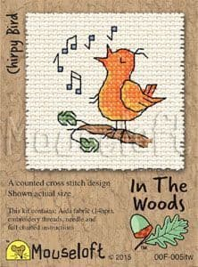 Mouseloft Chirpy Bird In The Woods cross stitch kit